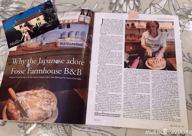 Caron, la dueña de Fosse Farmhouse, es muy famosa en toda la región, tiene entrevistas en revistas y todo