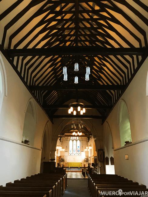 Interior iglesia Hambleden, Inglaterra