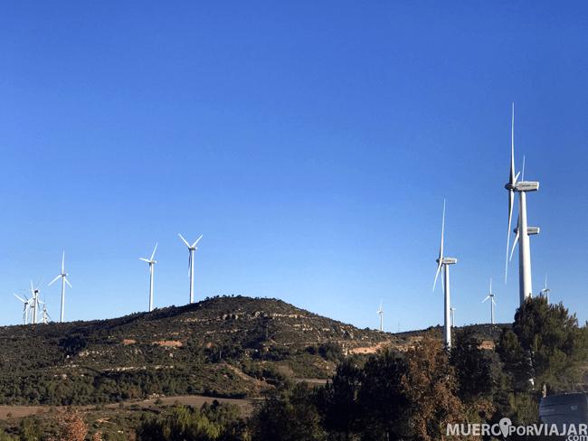 El Parc Eòlic de Rubió es uno de los más grandes de Catalunya