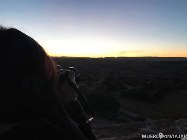 Las vistas desde la torre son preciosas y coincidimos con la puesta de sol