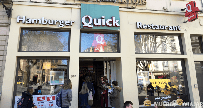 Quick Hamburger en Bruselas