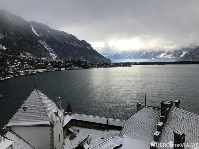 Lago Lemán desde el Castillo de Chillon