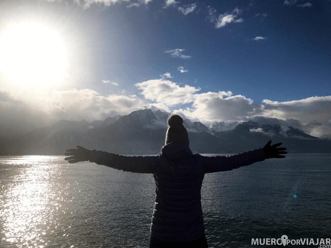 Lago Lemán en Montreux