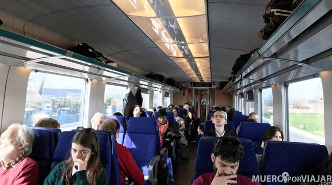 Interior tren Bélgica