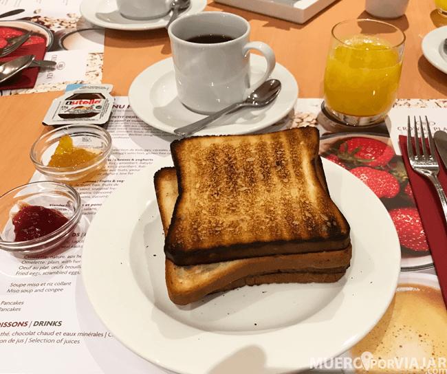 Desayuno hotel Crowne Plaza Geneva