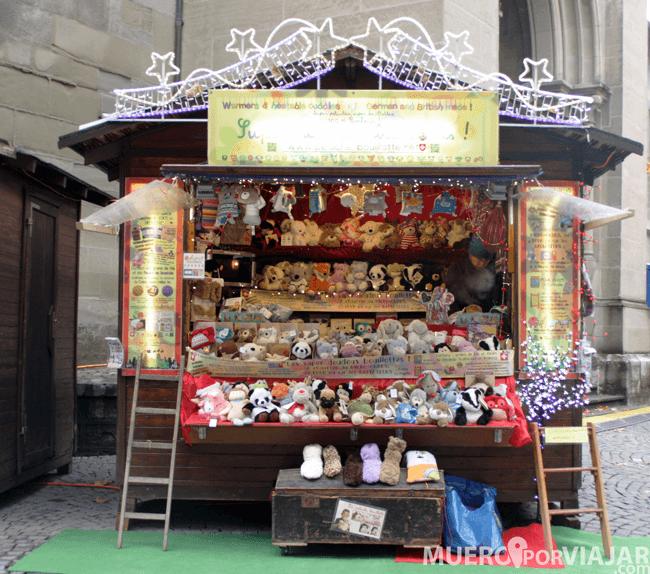 Una de las paradas navideñas que había en Lausanne