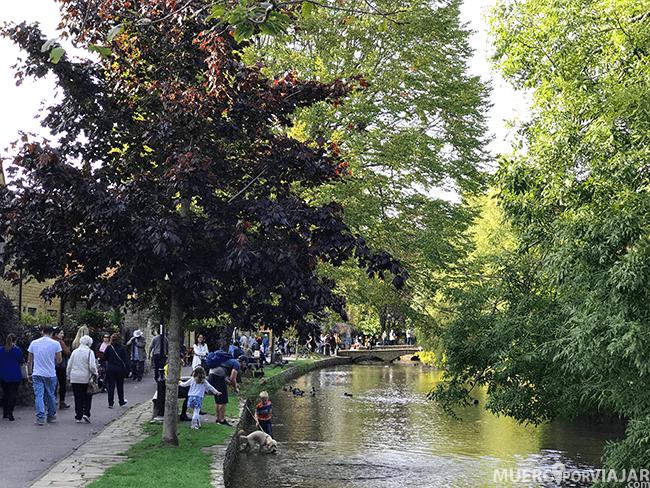 Se puede disfrutar de un agradable paseo junto al río Windrush