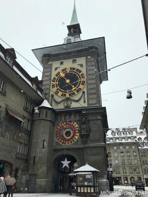 La Zytglogge o Torre del Reloj es uno de los monumentos más visitados de Bern