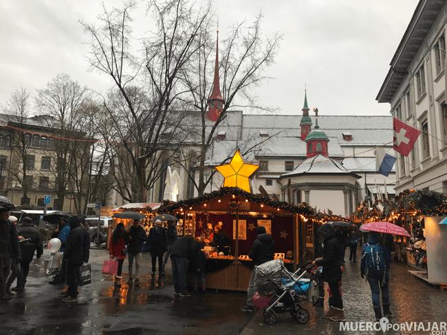 El mercado navideño de Lucerna