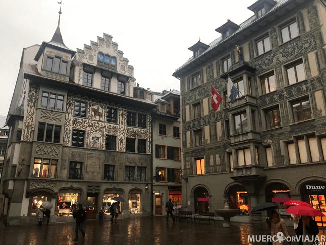 Los preciosos edificios de Lucerna