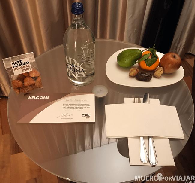 Detalle en la habitación del Hotel Allegro Bern