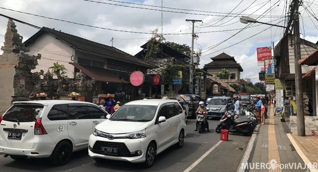 Tráfico de Ubud