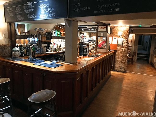 El pub The Bell Inn es el típico pub Inglés