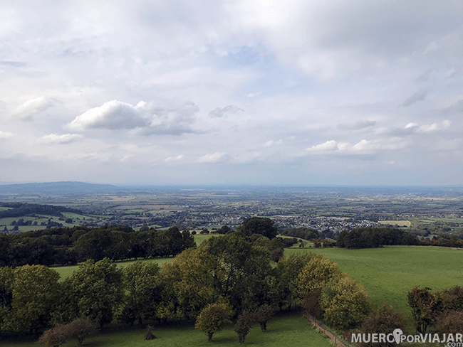 Las vistas desde la Broadway Tower en Los Cotswolds