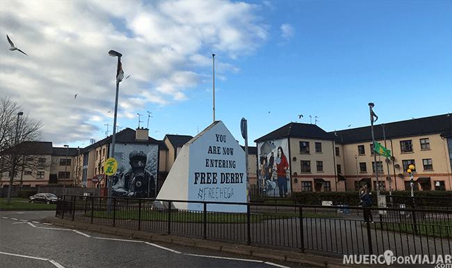 El barrioBoogside en Derry