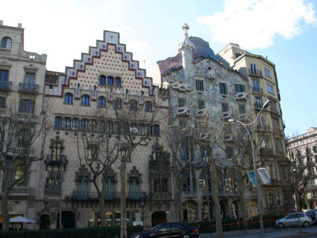 Casa Amatller en la calle Passeig de Grácia en Barcelona