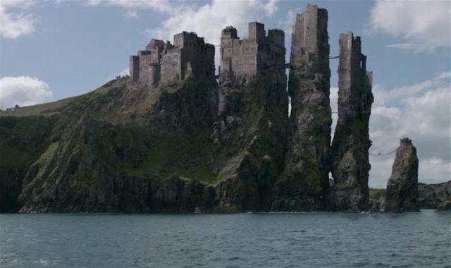 Los efectos informáticos transforman el Castillo de Dunluce en el castillo de los Geryjoy en Juego de Tronos