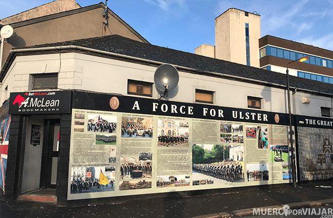 En el barrio protestante de Belfast también encuentras muchos murales reivindicativos
