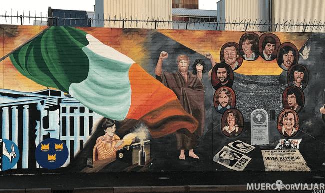 Es muy normal encontrar murales sobre presos o víctimas de la época de mayor crudeza del movimiento