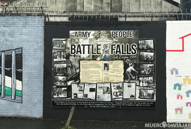 Los muros reivindicativos de la zona católica de Belfast