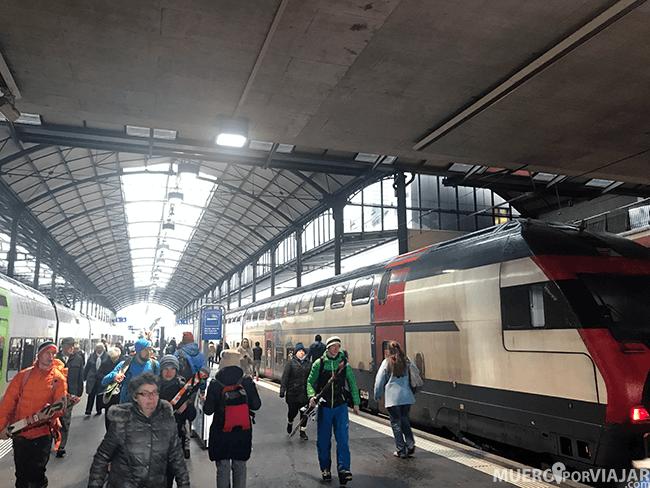 Estación de tren en Suiza