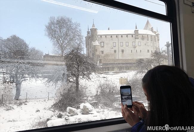 Vistas desde el tren en Suiza