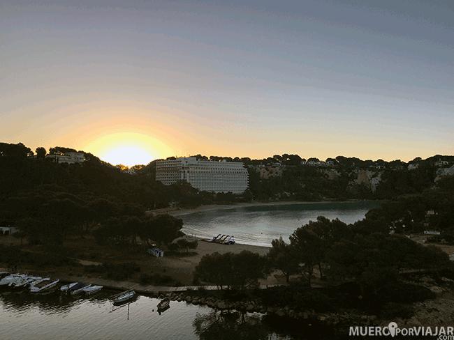 Atardecer del hotel Artiem Audax en Menorca