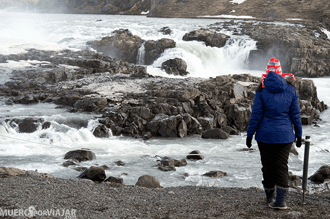 Una cascada cualquiera en Islandia