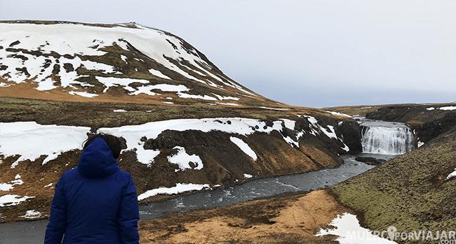 La cascada Borufoss en el circulo dorado en Islandia donde se rodó una escena de Juego de Tronos