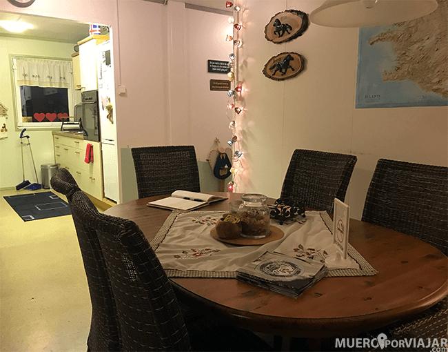 Comedor de la guesthouse