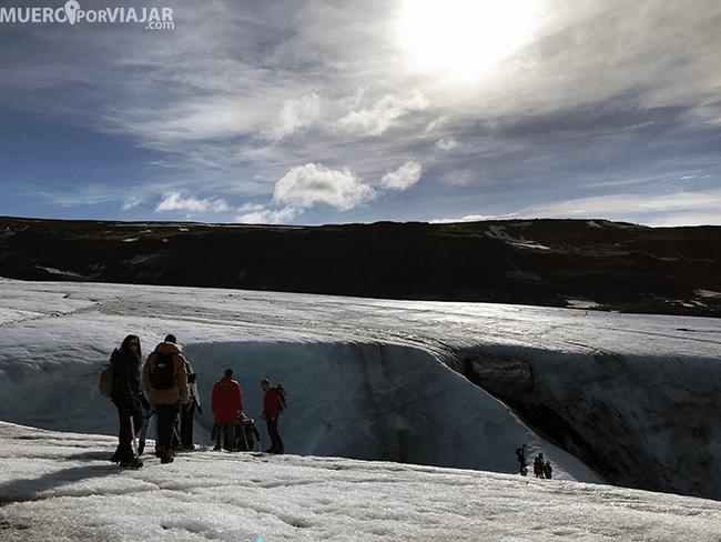 Excursión Solheimajokull - Islandia