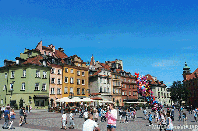 La Plaza del Mercado en Varsovia