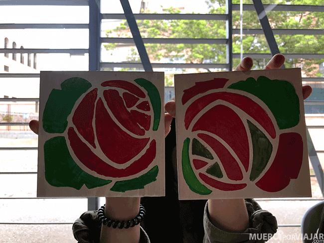 El resultado del taller, somos unos artistas :)