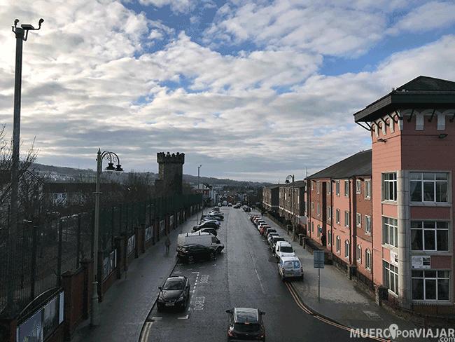 Zona protestante de Derry desde la muralla