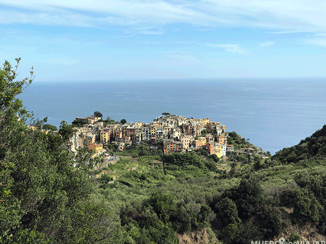 Cornigglia vista desde el sendero