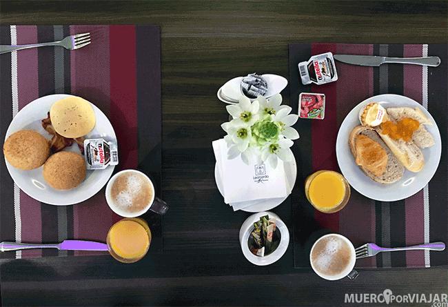 Desayuno en el hotel Leonardo Royal Hotel Warsaw - Varsovia