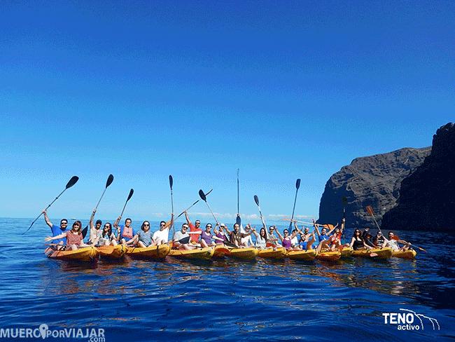 Kayak en los gigantes - Tenerife