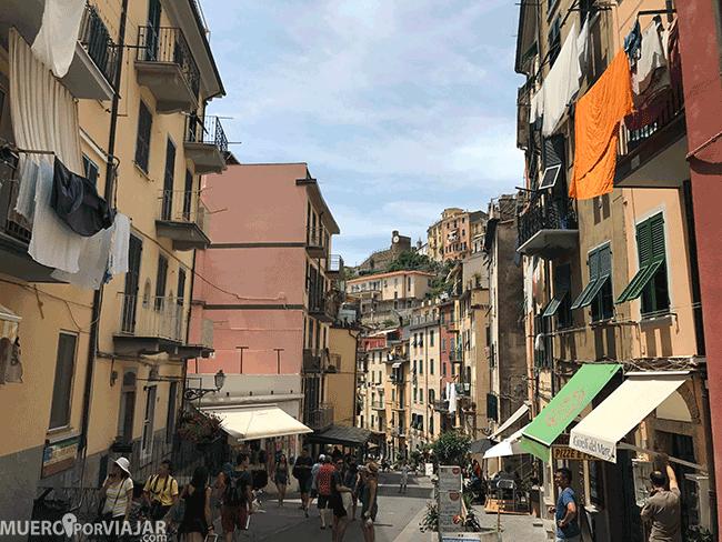 Las coloridas calles de Riomaggiore