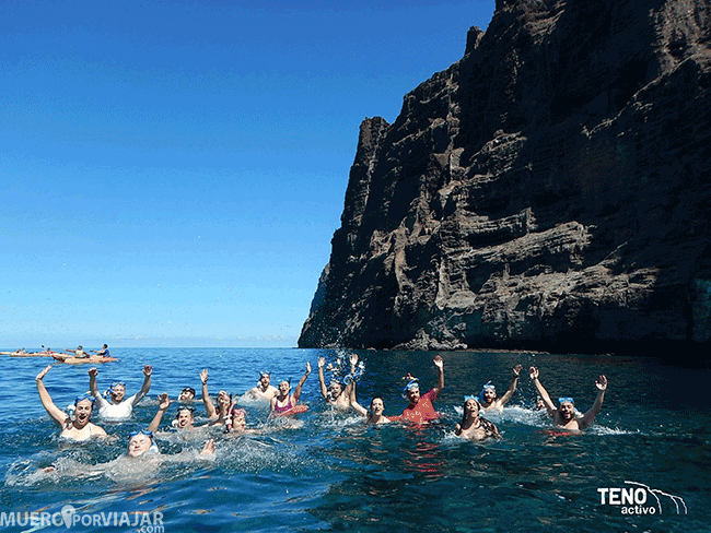 Baño en Los Gigantes - Tenerife