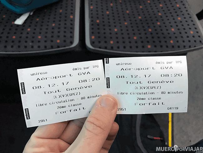 Tickets para ir al centro de Ginebra desde el aeropuerto