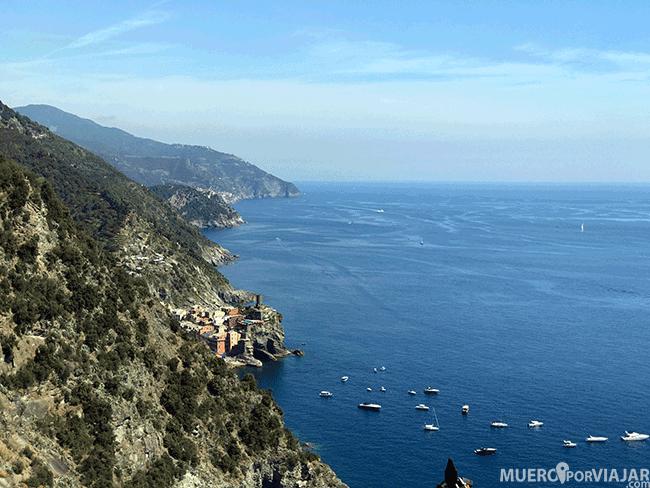Vistas de Vernazza desde el trail - Cinque Terre