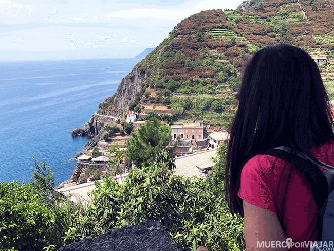 Desde todos los pueblos de CInque Terre se tienen unas vistas preciosas del mar