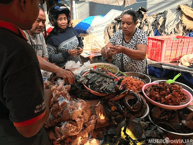 Mercado en Sukawati (Bali)