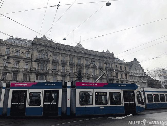 Tranvia en Zurich