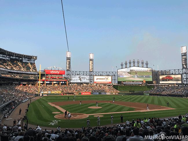 El estadio de los White Sox, equipo de baseball de Chicago