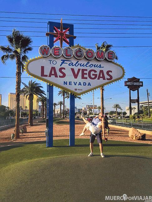 El famoso cartel de Welcome to fabulous Las Vegas en la entrada de la ciudad