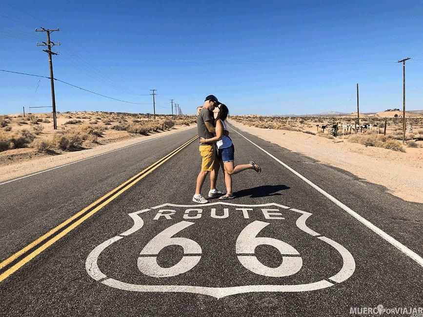 Una de las carreteras de la Ruta 66