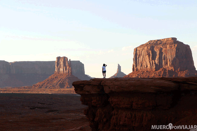 John Ford Point en el Monument Valley en Utah