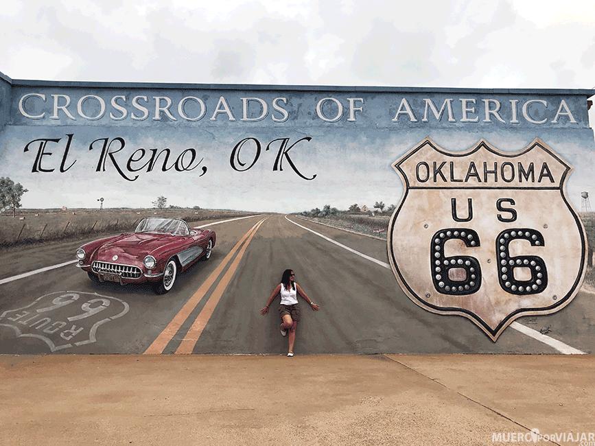 Mural de la Ruta 66 en El Reno