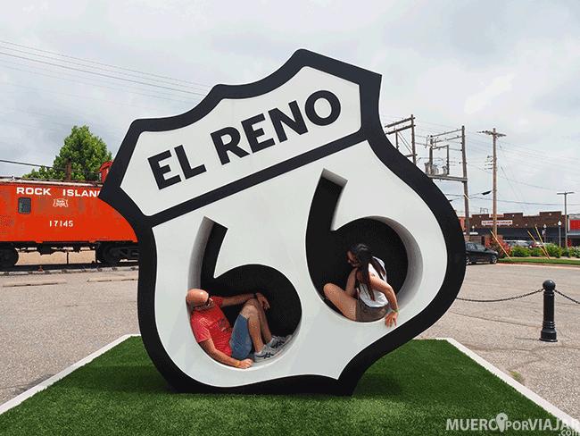 Simbolo de la Ruta 66 en El Reno